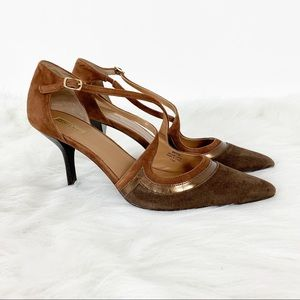 Tahari l Britta Pointed Toe Leather Pumps Size 11